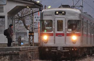 2012年3月25日 長野電鉄屋代線 金井山 3500系O2編成