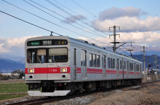 2012年3月25日 上田電鉄別所線 舞田~八木沢 1000系1004F