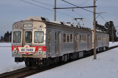 2012年3月29日 十和田観光電鉄 柳沢~七百 7200系7204+7305