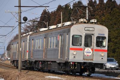 2012年3月30日 十和田観光電鉄 三農校前~古里 7200系7305+7204