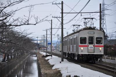 2012年3月30日 十和田観光電鉄 十和田市~ひがし野団地 7200系7305+7204