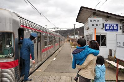 2012年3月31日 長野電鉄屋代線 雨宮 3500系O1編成