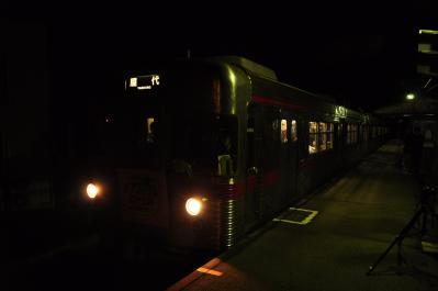 2012年3月31日 長野電鉄屋代線 若穂 3600系L2編成 屋代行き一般営業最終列車
