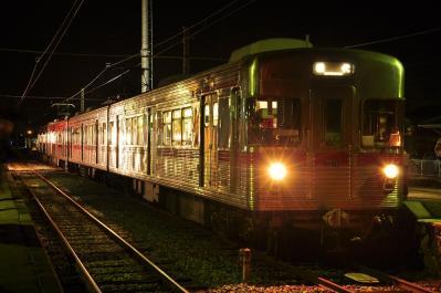 2012年3月31日 長野電鉄屋代線 綿内 3500系3500系N8編成+N7編成 松代行き最終列車