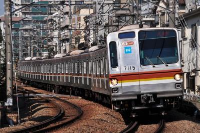 2012年4月8日 東急東横線 妙蓮寺~白楽 東京メトロ7000系7115F