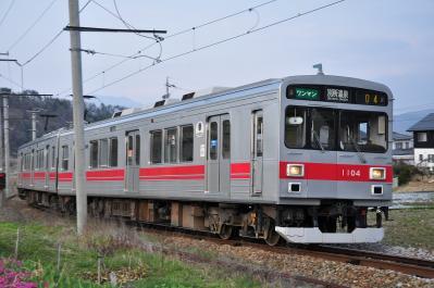 2012年4月19日 上田電鉄別所線 八木沢~別所温泉 1000系1004F