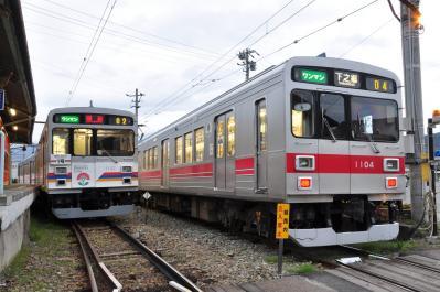 2012年4月26日 上田電鉄別所線 下之郷 1000系1002F・1004F