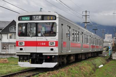 2012年4月26日 上田電鉄別所線 上田原~寺下 1000系1004F
