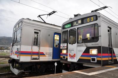 2012年4月26日 上田電鉄別所線 城下 1000系1002F・1003F