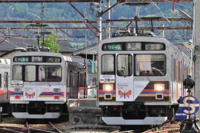 2012年5月5日 上田電鉄別所線 下之郷 1000系1002F・1003F