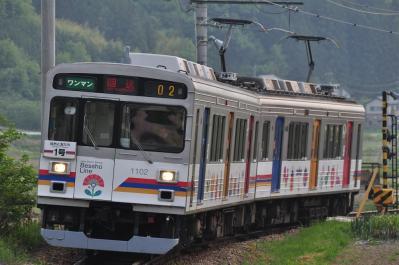 2012年5月25日 上田電鉄別所線 八木沢~別所温泉 1000系1002F