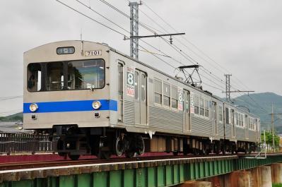 2012年6月14日 福島交通飯坂線 花水坂~医王寺前 7000系 7101-7202