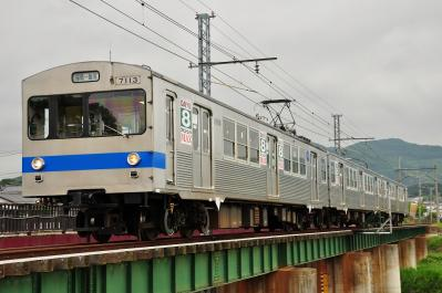 2012年6月14日 福島交通飯坂線 花水坂~医王寺前 7000系 7113-7315-7214