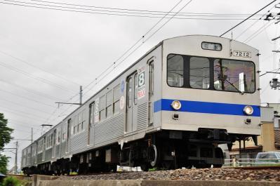 2012年6月14日 福島交通飯坂線 泉~上松川 7000系 7212-7316-7111