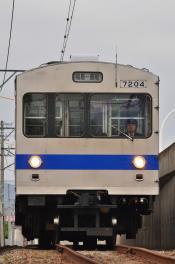 2012年6月14日 福島交通飯坂線 医王寺前~花水坂 7000系 7204-7103