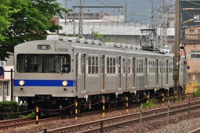 2012年6月14日 福島交通飯坂線 曾根田~美術館図書館前 7000系 7114-7315-7113
