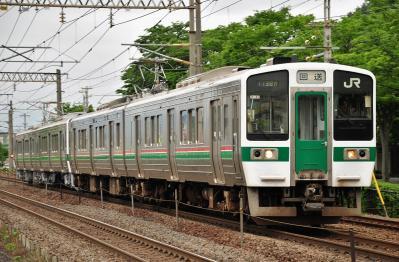 2012年6月14日 JR東日本東北本線 東福島~福島 719系H-40+H-30編成