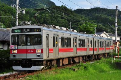2012年7月15日 上田電鉄別所線 別所温泉~八木沢 1000系1004F