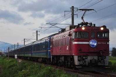 2012年7月21日 JR東日本津軽線 油川~津軽宮田 ED79-4+24系25型 寝台特急 北斗星 1号