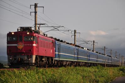 2012年7月21日 JR東日本津軽線 津軽宮田~油川 ED79-14+14系+24系25型 急行 はまなす