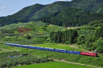 2012年7月21日 JR東日本奥羽本線 大鰐温泉~石川 EF81-13*+24系25型 寝台特急 あけぼの