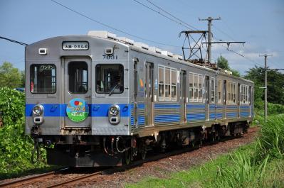 2012年7月21日 弘南鉄道大鰐線 鯖石~宿川原 7000系7031-7032