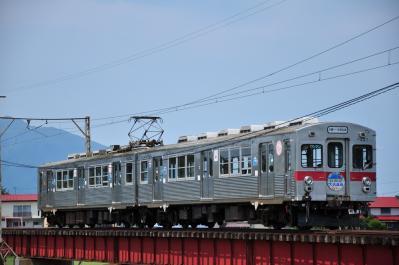 2012年7月21日 弘南鉄道大鰐線 石川~石川プール前 7000系7037-7038