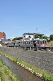 2012年7月21日 弘南鉄道大鰐線 中央弘前 7000系7038-7037