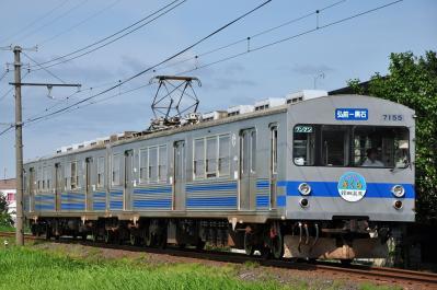 2012年7月21日 弘南鉄道弘南線 津軽尾上~柏農校前 7000系7155-7105