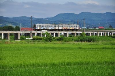 2012年7月21日  弘南鉄道弘南線 津軽尾上~尾上高校前 7000系7012-7022