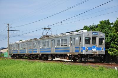 2012年7月21日 弘南鉄道弘南線 津軽尾上~柏農校前 7000系7023-7013