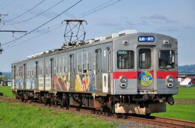2012年7月21日 弘南鉄道弘南線 柏農校前~平賀 7000系7022-7012