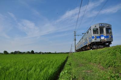 2012年7月21日 弘南鉄道弘南線 平賀~柏農校前 7000系7023-7013