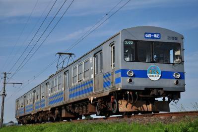 2012年7月21日 弘南鉄道弘南線 柏農校前~平賀 7000系7155-7105