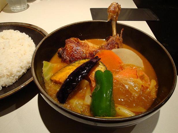 ひげチキン野菜カレー
