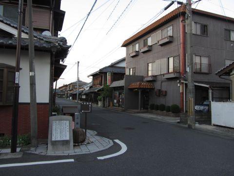旧東海道 水口町城内(小坂町)
