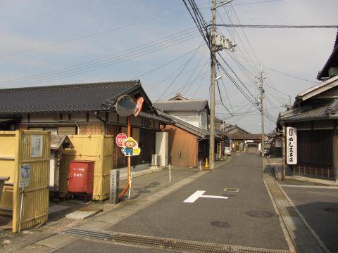 旧東海道 水口町元町(作坂町)