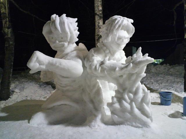 2013年作成の雪像