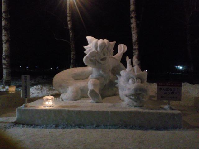 2012年作成の雪像