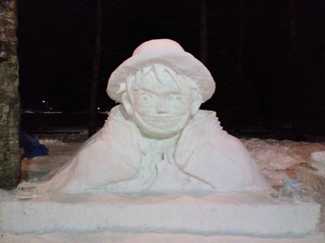 2011年作成の雪像