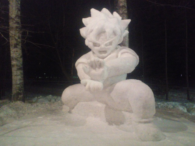 2010年作成の雪像
