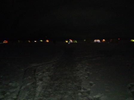 湖上テント