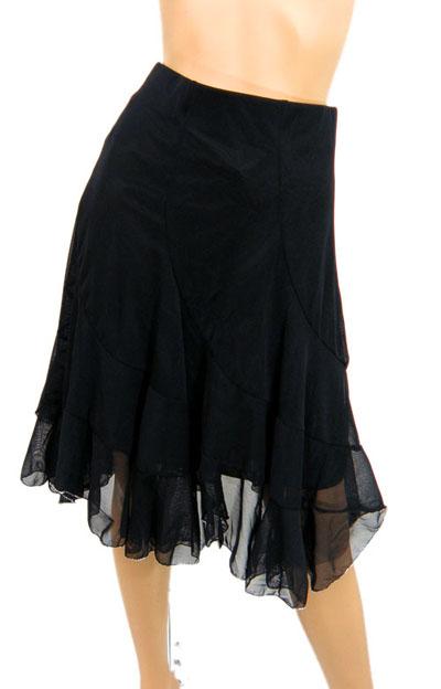 裾銀糸ロックメッシュスカート1