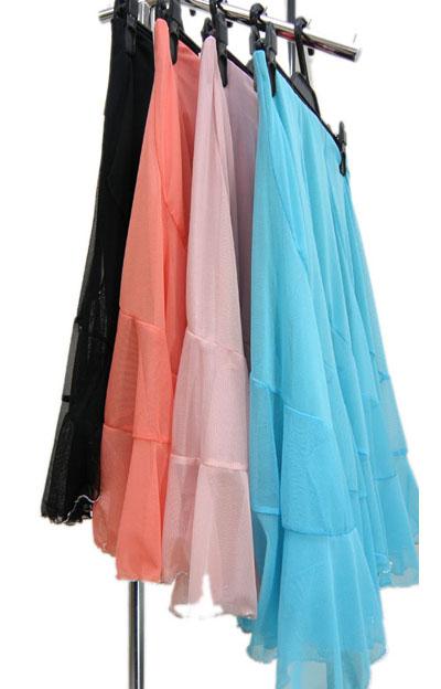 裾銀糸ロックメッシュスカート2