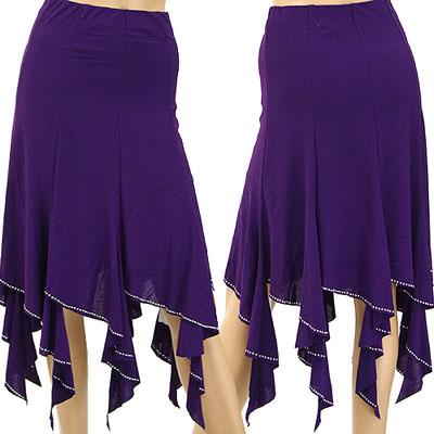 裾ヒラヒラメタルデコラ8枚接ぎスカート