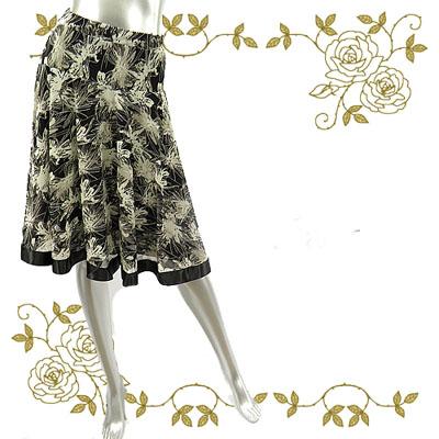 韓国製太テープミディアムスカート