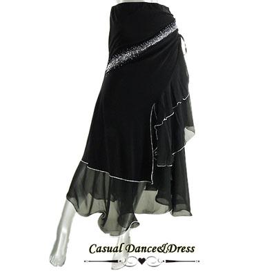 ジルコン付き裾しぼりスカート