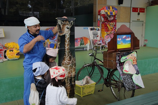 とべ動物園・自転車紙芝居 141130 04