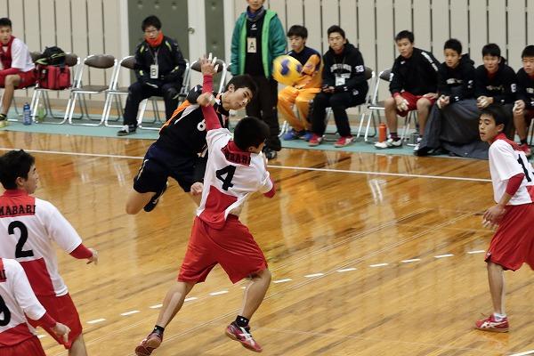 高校ハンドボール選抜大会愛媛県予選リーグ今西-松東141221 02