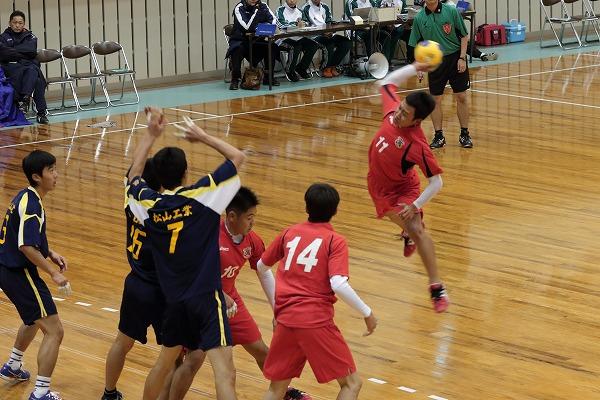 高校ハンドボール選抜大会愛媛県予選リーグ松工-松東141221 02